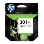Cartucho tinta 3 colores HP para impresora HP Deskjet 1050, 2050 - HP 301XL / CH564EE Original